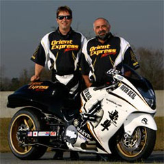 Image Of Joe Hahn &amp; Mike Kovacevich With Pro Street Hayabusa Turbo