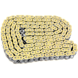 EK Chain - Drive Chain - 520 ZZZ/120 Links/Gold Side Plates/X-Ring Chain/9,400 Tensile/ZST Zero Stretch Technology