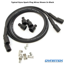 Dynatek Spark Plug Wires Black Silicone Suppression Core 7mm