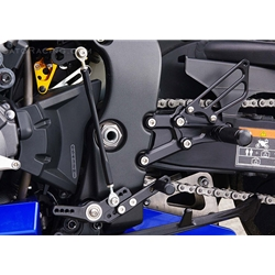 Sato Racing Rear Sets Honda CBR 1000RR 2009 2015 ABS Equipped Models 12 Positions Standard Or Reverse Shift Gold Anodized