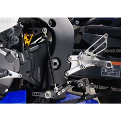 Sato Racing Rear Sets Honda CBR 1000RR 2009 2015 ABS Equipped Models 12 Positions Standard Or Reverse Shift Silver Anodized