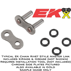 EK Chain - Master Link - 525 ZZZ/Rivet Type Master Link/Chrome Side Plates