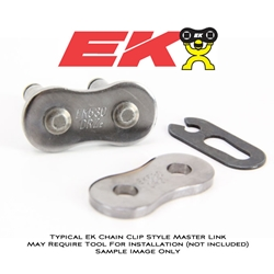 EK Chain - Master Link - 530 DRZ/Clip Type Master Link/Chrome Nickel Side Plates