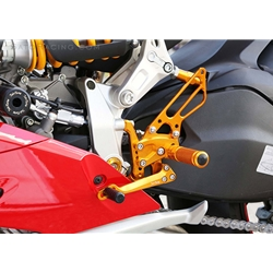 Sato Racing Rear Sets Ducati 1199 899 Panigale Superbike 2012 2014 Adjustable Anodized Silver