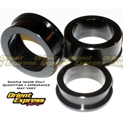 Orient Express Captive Wheel Spacer Kit Kawasaki ZX 6R Ninja 2013 4 Pieces Black Anodized Billet Aluminum