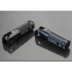 Sato Racing Folding Footpegs 12mm Pin Pair Black Anodized