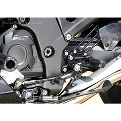 Sato Racing Rear Sets Kawasaki ZX 14R Ninja 2012 2014 CNC Machined Billet Aluminum Adjustable