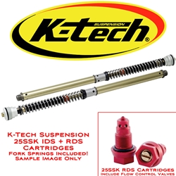 K-Tech Suspension 25SSK IDS Fork Cartridges Ducati Hyper Motard 821 2013 2015 Marzocchi Forks Includes Springs
