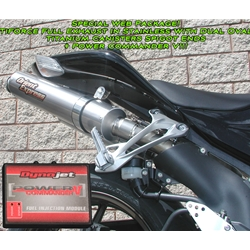 Performance Package TiForce Full Stainless Exhaust System Spigot Ends Power Commander V Kawasaki ZX10R 2006 2007