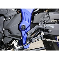 Sato Racing Rear Sets Yamaha YZF R3 YZF R25 MT-03 MT-25 2015 2016 5 Positions CNC Machined Billet Black Anodized