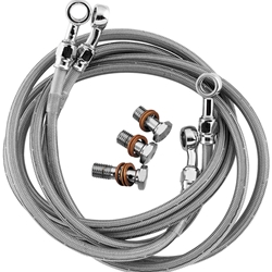 Goodridge Braided Stainless Steel Brake Line Kit Suzuki GSX 1300R Hayabusa 1999 2007 Dual Lines Front Brakes