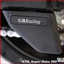 GB Racing - Shark Fin Chain Guard - Honda/KTM/Suzuki/Yamaha/See Application List Inside/Injection Molded Long Fiber Reinforced Nylon/High Impact/Low Wear