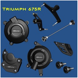 GB Racing Protection Bundle Triumph Daytona 675R Street Triple 675R 2011 2012 High Impact Low Wear