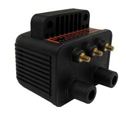 Dynatek - Dyna Ignition Coil - For Dyna 2000 Applications/3 Ohm/Twin Fire II/Single Plug/Single Fire/Street Or Race/Black/Mini Series/1 Per Package/HD