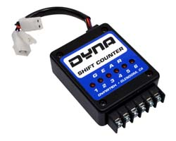 Dynatek - Dyna Shift Counter - For Dyna 4000 Ignition Systems/Module And Trigger/6 LED Display For 6 Speed Transmissions