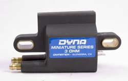 Dynatek - Dyna 2000 Dyna S Ignition Coil/3 Ohm/Dual Output/Dual Plug/Single Fire/Street Or Race/Black/1 Per Package/Mini Series/HD