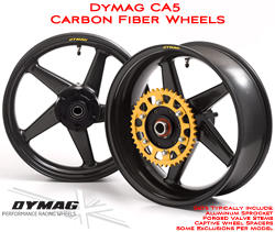 Dymag Carbon CA5 Wheels Carbon Fiber 5 Spoke Ultra Lightweight Pair
