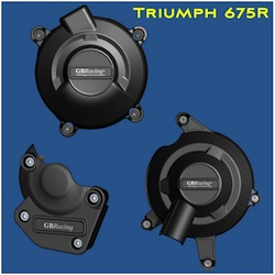 GB Racing Engine Cover Set Triumph Daytona 675R 2011 2012 Street Triple 675R 2011 2015 For Standard Engine Covers Triumph Embossed