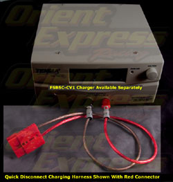 Full Spectrum Power - Charging Harness - For Red Genesis Quick Disconnect Terminals/Connects To FSBSC-CV1 Charger