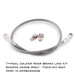 Galfer Rear Brake Line Kit Suzuki GSX 1300R Hayabusa 2008 2013 Braided Stainless Steel Standard Length
