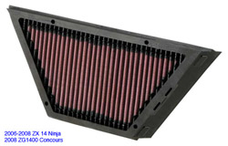 K&N Engineering High Performance Air Filter Kawasaki ZX 14 Ninja ZZR 1400 2006 2011 ZG 1400 Concours 14 2008 2013
