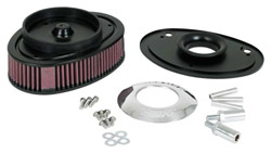 K&N Engineering - High Performance Air Filter - Harley Davidson 1999-2007 Twin Cam Models/Custom/Polished/Replaces Stock Housing