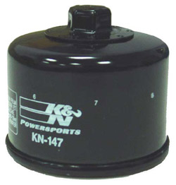 K&N Engineering - High Performance Oil Filter - Yamaha - OEM #5DM-134-400-000 - See Application Chart Inside/Spin On Style/Black