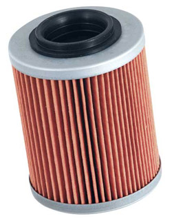 K&N Engineering - High Performance Oil Filter - Aprilia OEM #0256187/Bombardier OEM #42025-6188/Cartridge Style