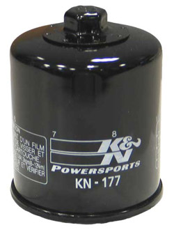 K&N Engineering - High Performance Oil Filter - Buell OEM #6380-600Y/Many 2000-2009 Models/See Application Chart Inside/Spin On Style/Chrome