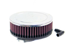 K&N Engineering - High Performance Air Filter - Mikuni - Turbo Carburetors/Chrome Cover/Cleanable & Reuseable