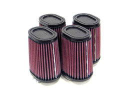 K&N Engineering - High Performance Air Filter - Universal - Oval Tapered Element/Offset Straight Flange/4 Filters Per Kit/5x4x3