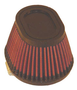 K&N Engineering - High Performance Air Filter - Universal - Oval Tapered Element/Straight Flange/Dimensions Inside