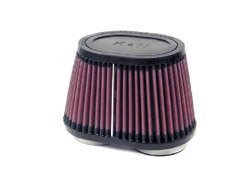 K&N Engineering - High Performance Air Filter - Universal - Oval Tapered Element/Dual Straight Flanges/See Dimensions Inside