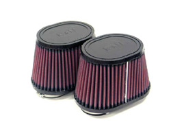 K&N Engineering - High Performance Air Filter - Universal - Oval Tapered Element/Dual Straight Flanges/4x4x6