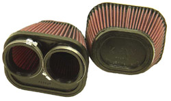 K&N Engineering - High Performance Air Filter - Universal - Oval Tapered Element/Dual Straight Flanges/6 x 5 x 4