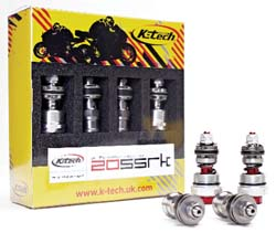 K-Tech Suspension - 25SSRK Front Fork Piston Kit - Ohlins - Road & Track Forks/MUST Be Installed By K-Tech USA/For Race Track Use