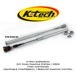 K-Tech Suspension ORDS Off Road Damping System Fork Cartridges KTM SX50 2012 2016 Husqvarna TC50 2012 2016 Adjustable Compression And Rebound Damping