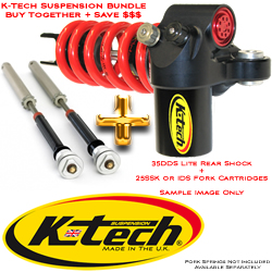 K-Tech Suspension 35DDS Lite + 25SSK RDS or IDS Fork Cartridge Bundle