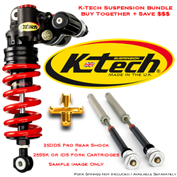 K-Tech Suspension 35DDS Pro Rear Shock 25SSK RDS or IDS Fork Cartridge Bundle