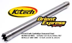K-Tech Suspension - Tools - Front Fork Cartridge Removal Tool - Fits K-Tech 25SSK; 20DDS;KTR-2;KTR-3;Yamaha YZF 600 R6/Ducati 1098 Superbike Showa Forks