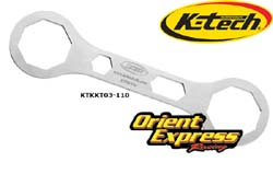 K-Tech Suspension - Tools - Front Fork Top Cap Spanner Wrench/Kayaba KYB & Showa Forks/Box Ends/49mm & 50mm