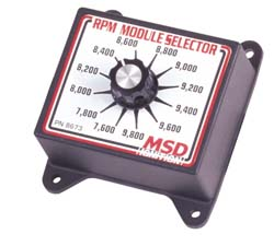 MSD Ignition - RPM Selector - For Soft Touch Rev Controllers/6000-8200 RPM/12 Positions/Rotary Knob
