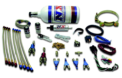 Nitrous Express - 4 Cylinder Street Piranha Nozzle Kit/2.5lb Bottle/2'/With Fuel Pump