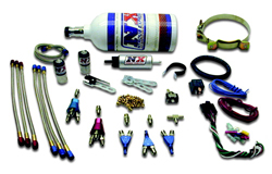 Nitrous Express - 3 Cylinder Piranha Nozzle Kit/2.5lb Bottle/2'/With Fuel Pump