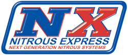 Nitrous Express - 4 Cylinder Universal EFI Piranha Nozzle Kit/2.0lb Bottle/2'/With Fuel Pump/Black Soft Line