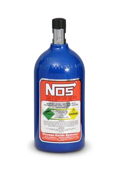NOS - Nitrous - Bottle - 32oz/2.0lb Capacity/Electric Blue Finish/Mini Hi Flow Valve