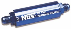 NOS - Nitrous - Nitrous Filter/Stainless Mesh/Billet Aluminum Body/High Pressure/Cleanable/-4AN x -4AN