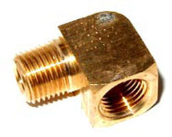 NOS - Nitrous - Fitting - Male Female Pipe Nipple/Brass/ 1/8