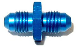 NOS - Nitrous - Fitting - Union Flare To Flare/-4AN x -4AN/Blue/37 deg AN/Straight 180 deg