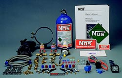 NOS - Nitrous - Motorcycle Or ATV/4 Stroke/4 Cylinder Kit/700cc +/4x Fogger/2lb Blue Bottle/Solenoids/Pump